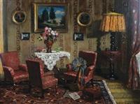 interior scene by czene janos apatfalvi