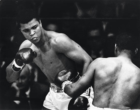 muhammad ali fighting floyd patterson at the flamingo hotel las vegas by eddie adams