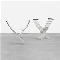 classic folding benches (pair) by john vesey