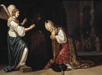 the annunciation to zacharias by rombout van troyen