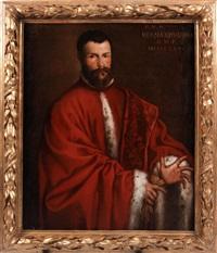 lebensgrosses portraitbildnis des venezianischen magistraten bernardus bra by alessandro varotari