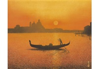 venezia in sunset by tatsuya ishiodori