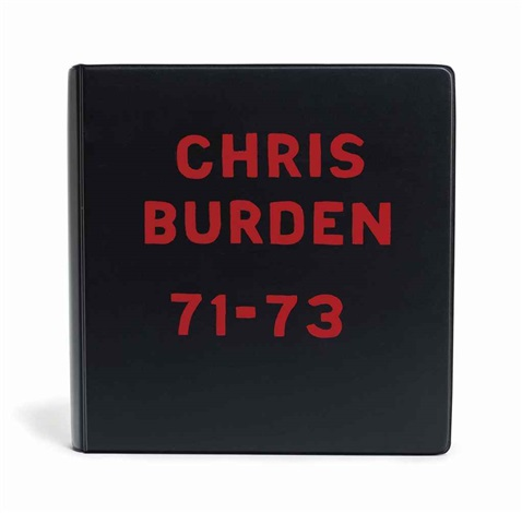 chris burden deluxe book by chris burden