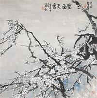 圣白天香 镜片 设色纸本 by liu lun