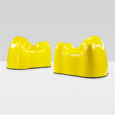 molar group lounge chairs pair by wendell castle