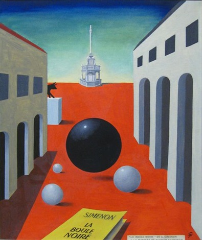 la boule noire 3 others various sizes 4 works hommages à georges simenon by gaston xhardez