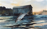 leaping trout by chet reneson