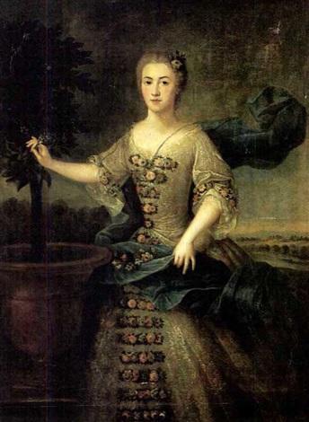 portrait de la comptesse de villiers by jean baptiste nattier
