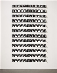the shapes project: monoprints (144 works) by allan mccollum