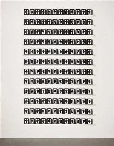 the shapes project monoprints 144 works by allan mccollum