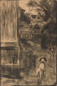 bäuerin vor ihrem hof by arthur langhammer