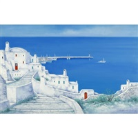 white hill by harbour by jihei higuchi