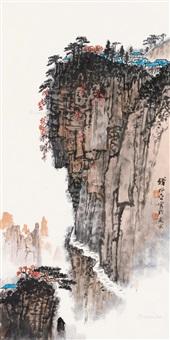 高屋建瓴 立轴 设色纸本 by qian songyan