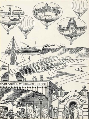 boulogne & newhaven-dieppe by edward bawden