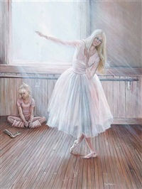 untitled - ballet lesson by joyce christina anderson