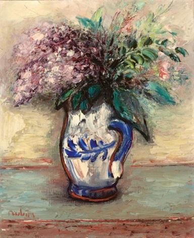 lilac still life by reuven rubin