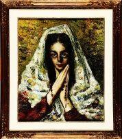 giovane in preghiera by ermenegildo agazzi