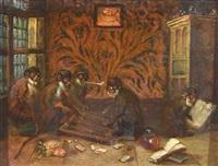 a game of backgammon by ferdinand van kessel
