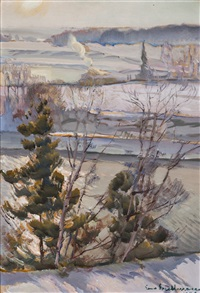 winter landscape by eero snellman