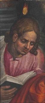 an apostle, a fragment from a pentecost by pieter aertsen