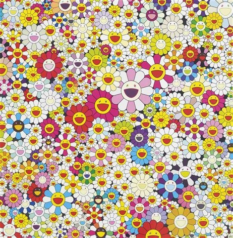 flowers in heaven jellyfish eyes cream 2 works by takashi murakami