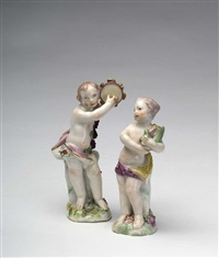 musical putti (+ another; pair) by chelsea keramic artworks