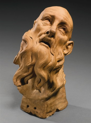 head of a bearded saint by gian lorenzo bernini
