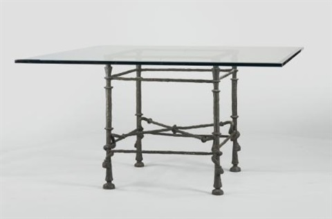 table torsade modèle carré by diego giacometti