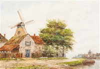 near deventer. holland by hermanus koekkoek the younger