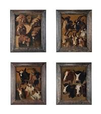 studio di mucche, pecore e capre (4 works) by francesco londonio