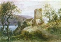 dartmouth castle, st. petrock`s church by alfred leyman
