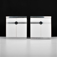 nightstands/cabinets (pair) by pierre cardin