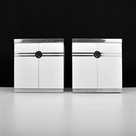 nightstandscabinets pair by pierre cardin