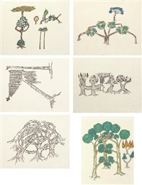 untitled - tree forms (set of 6) by gordon matta-clark