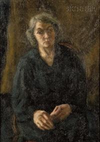woman in black by samuel brecher