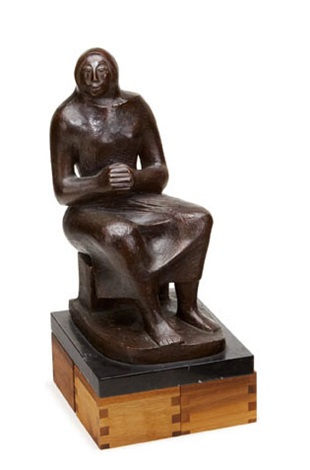 untitled seated female figure by elizabeth catlett