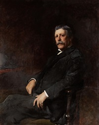 portrait of robert r. symon, three-quarter length, seated by francis montague (frank) holl
