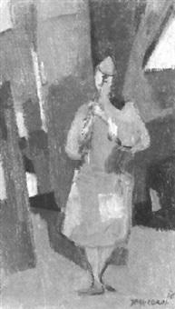 musizierender clown by jean cornu