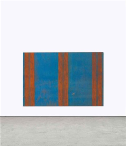 untitled (canopy painting blue and orange) by fredrik vaerslev & Untitled Canopy Painting Blue and Orange by Fredrik Vaerslev on artnet