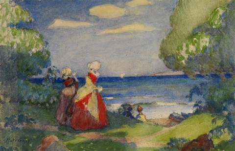 promenade by the sea by peter alexanrovitch pierre nilouss