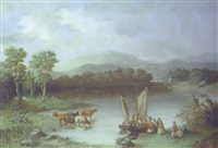 rydal water painted from near wordsworth's house by e.k. barnes
