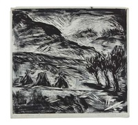 mutter und kind (+ landschaft, smaller, stamped, w/ed.; 2 works) by margarete koehler-bittkow