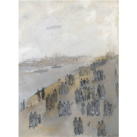 promenade along the neva by alexandre arkadevich labas