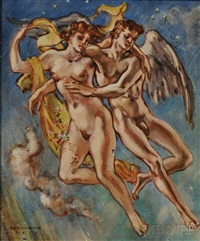 zephyrus or favorius the westwind with flora (chloris) by william horace littlefield