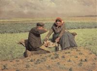 le déjeuner des paysans by adolphe jacobs
