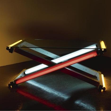 redyellowblue table by iván navarro