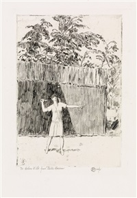 helen wills at easthampton, no. 3 by childe hassam