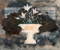 the lilies of hades and a bowl by tero laaksonen