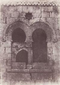 jérusalem. escalier arabe de sainte-marie la grande. détails de la partie supérieure by auguste salzmann