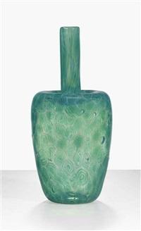 boboli-spirale verde bristol vase by ermanno toso
